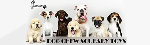 Dog Toys for Aggressive Chewers Large Breed, Squeaky Dog Toys for Medium Large Dogs, 100% Natural