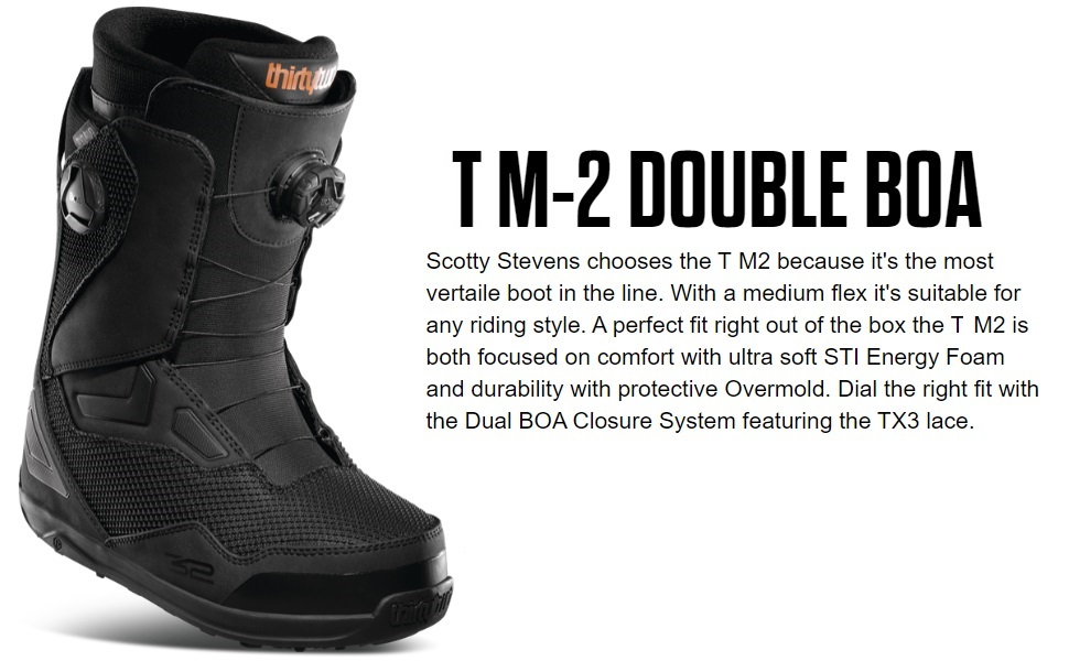 thirtytwo Mens TM-2 Double Boa Snowboard Boot 19//20