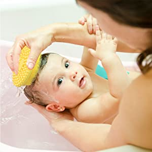 silicone bath brush for baby