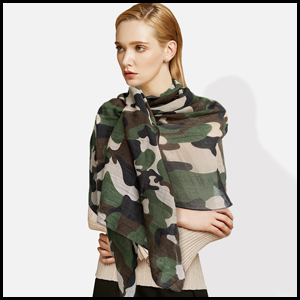 Mens Long Soft Scarf Camouflage Printed Camo Scarf Wrap Shawl Scarf Accessories