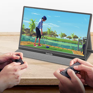 Portable Type-C Gaming Monitor  13.3″ Portable Monitor, Kogoda FHD 1080P USB Computer Display Eye Care Gaming Monitor External Secondary Display with IPS Panel, HDMI, Type-C, Dual Speakers for PC Laptop Mac Phone PS4 Xbox (Gray) 6d708e7b 53e1 4929 bc03 89348c834247