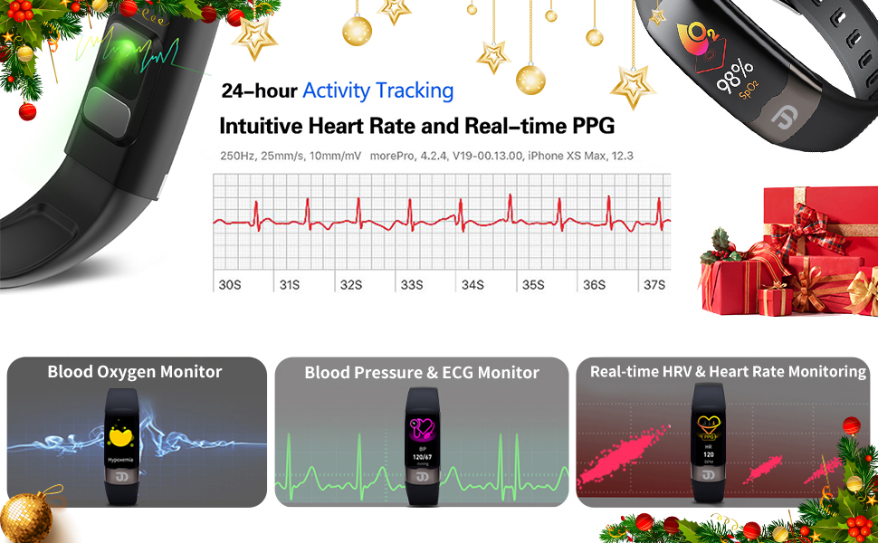 Fitness Tracker HR Activity Tracker Watch with Heart Rate Monitor