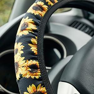 car wheel cover for men steering wheel cover sunflowers girly car accessories for women slip cover