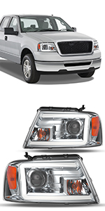 rojector Headlights Compatible with 2004-2008 Ford F-150