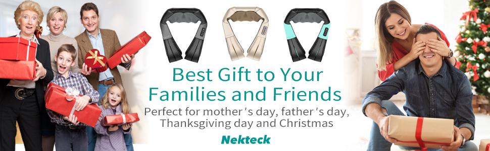 Nekteck neck back shoulder massager