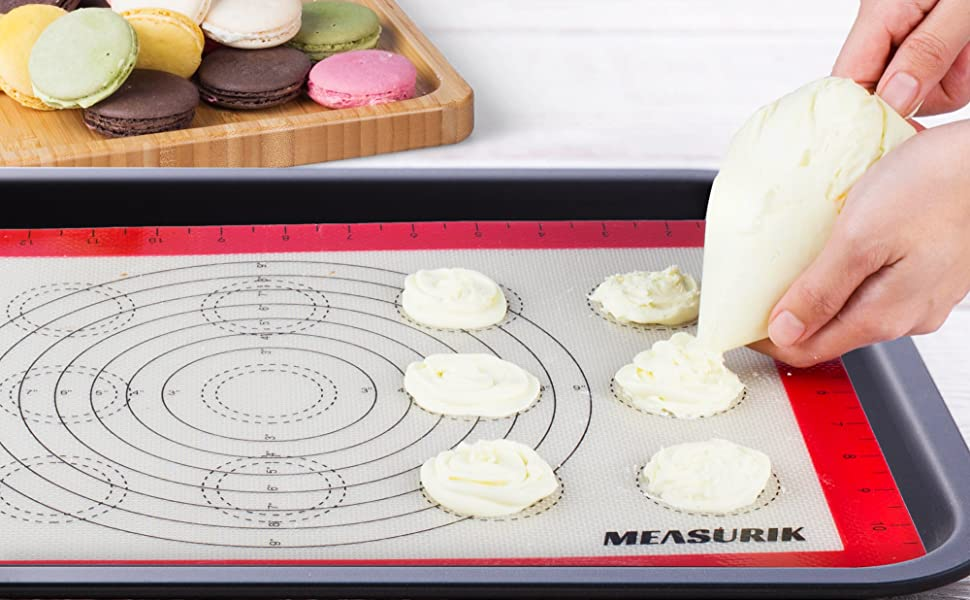 baking mats for cooking desserts cookies macaroons with size measurements
