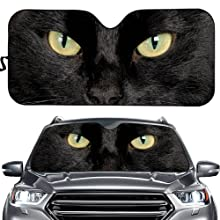 Black cat Car Sun Shade for Window Front