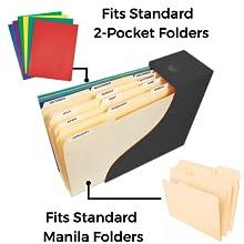 holds folders