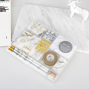 marble white stationery gift set ballpoint pen sticky notes