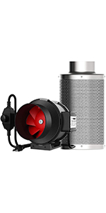 6 Inches Duct Fan & Carbon Filter Combo