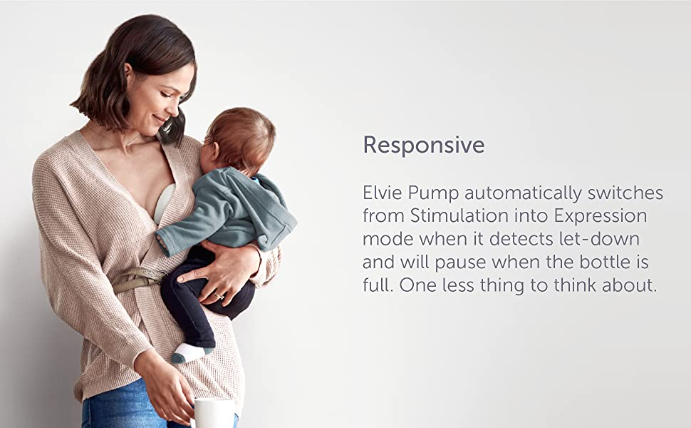 responsive, pump, modes, stimulation, expression, breast pump, elvie, willow, automatic, smart, baby