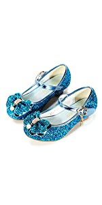 Bfoel Zapatos De Vestir Para Niñas Adorable Sparkle Mary Jane Flats Para Fiesta De Boda Shoes