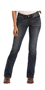 Rock and Roll Cowgirl Mid Rise Extra Stretch Jeans