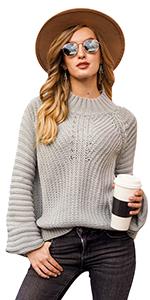 lantern sleeve sweater for women