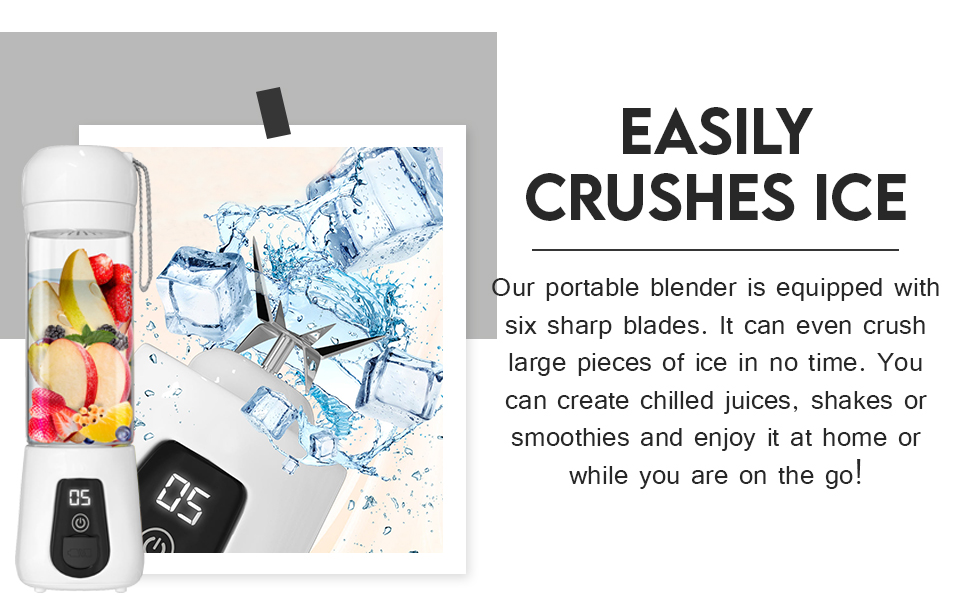 Powerful crusher for ice and fruits