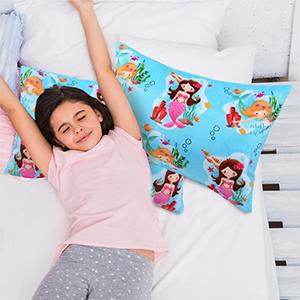 sequin mermaid pillow case throw pillow