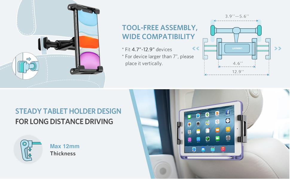 UGREEN Car Seat Headrest Tablet iPad Holder
