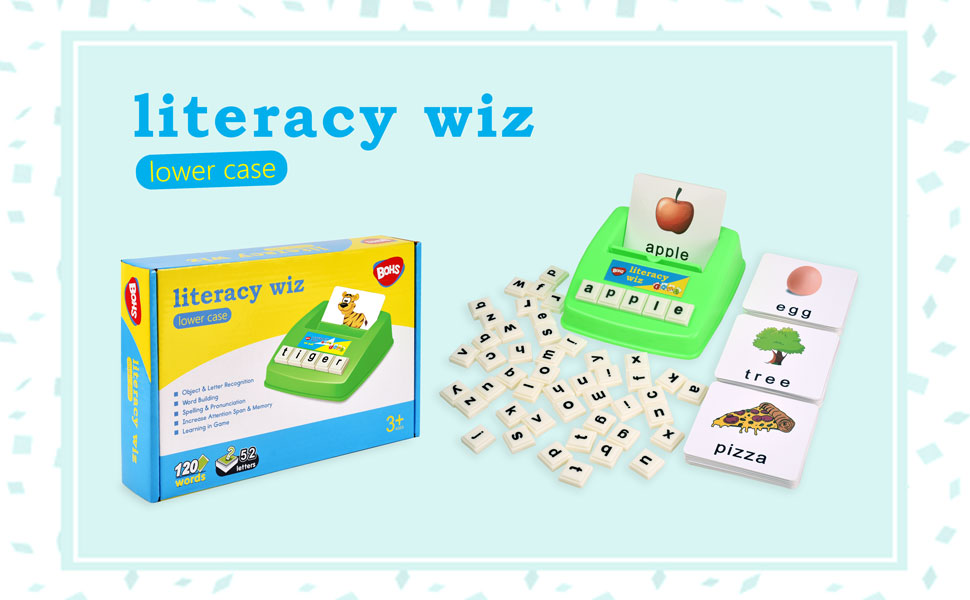 lowercase - BOHS Literacy Wiz -Lower Case Sight Words - 60 Flash Cards - Preschool Language Learning Educational Fun Game Toys