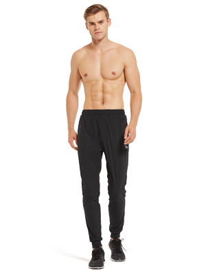 BALEAF EVO Mens Performance Athletic Pants Quick Dry Running Pants Seamless Gym Sports Pants with Zipper Pockets