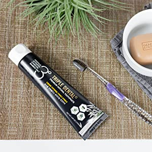 Triple Dental Activated Charcoal Toothpaste