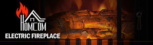 "HOMCOM 16"" Free Standing Electric Fireplace"