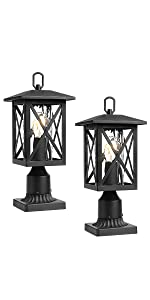 outdoor post light exterior pillar light outside pier mount lantern pole lamp deck lighting