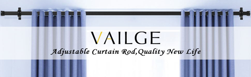 vailge curtain rods for windows 84 to