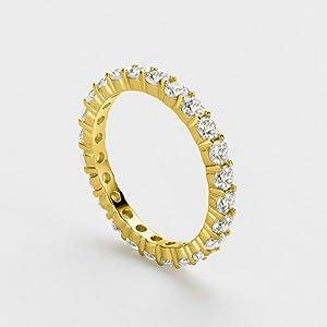band ring gold for women diamond