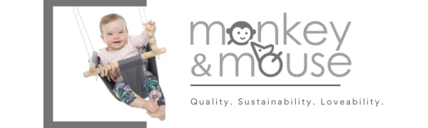 Monkey & Mouse high QUALITY swings for SECURE, FUN and stimulating PLAY Safety Standards approved