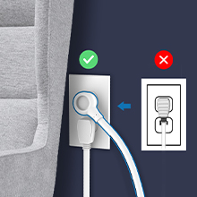 surge protector flat plug