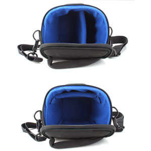 Portable DSLR Camera Holster Case with Top Loading accessibility and Shoulder Sling by USA Gear