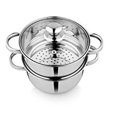 Stainless Steel Steamer Top View