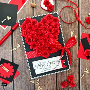 Red Passion Love scrapbook