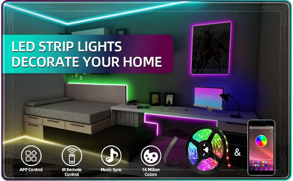music sync led strip lights