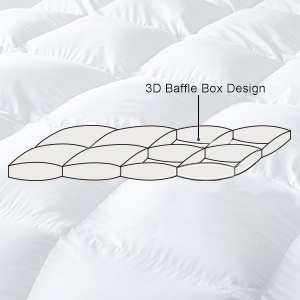 baffle box goose down egyptian cotton shell hotel quality craftsmanship goose down