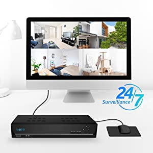REOLINK Reolink PoE NVR 8 Channel Home Security Camera System Video  Recorder with 2TB Hard Drive Support 4K/5MP/4MP/1080P HD IP Camera RLN8-410