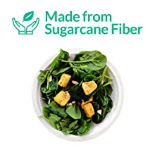 """Made from Sugarcane Fiber, Bagasse White Plates 7"""" Disposable Plates"""