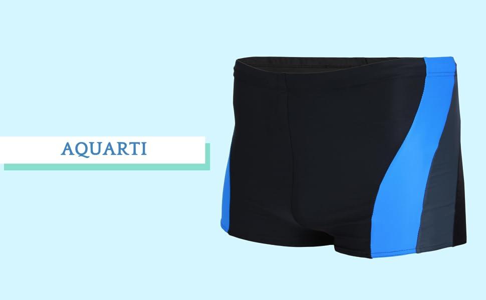 Aquarti Ba/ñador de Hombre Corto Deportivo con un Borde