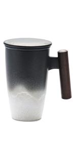 Black tea cup mug 350ml 400ml