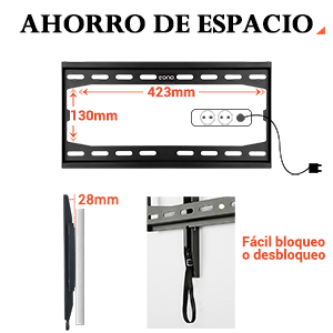 """Soporte TV Fijo PL2361-K Eono Essentials soporte de pared para TV televisores 55"""" VESA 400x400"""