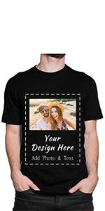 custom text & photo shirt