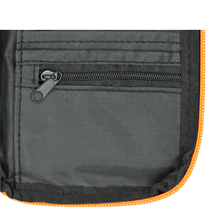 pocket document wallet coins money pocket zip closure compact rfid cards