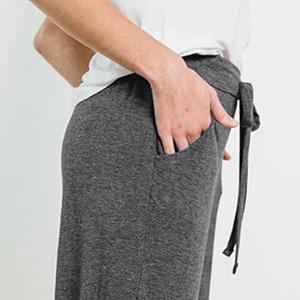 womens slant pocket trousers wide leg loose fit yoga pants running pants sport pants fitness