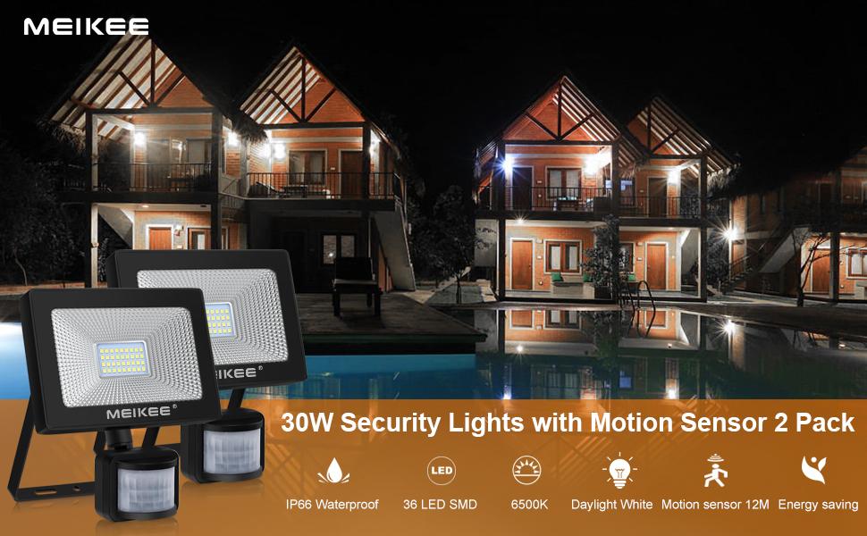 outside lights with motion sensor