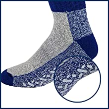 Wool thermal socks with double layer insulation.