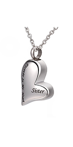 Heart Engraved Urn Necklace