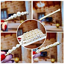 pearl hair clips for women