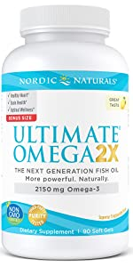 Ultimate Omega, nordic naturals, omega 3 2X