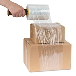Mini Stretch Wrap Film with Handle (2 Pack) 5 Inch Plastic Stretch Film with Rotating Handles