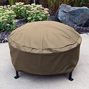 cover shown on fire pit on patio